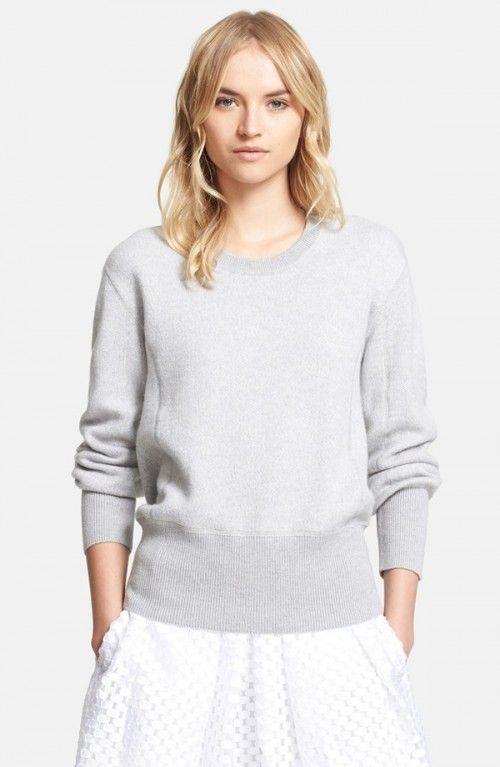Burberry London Wool Cotton Cashmere Crewneck Sweatshirt ...