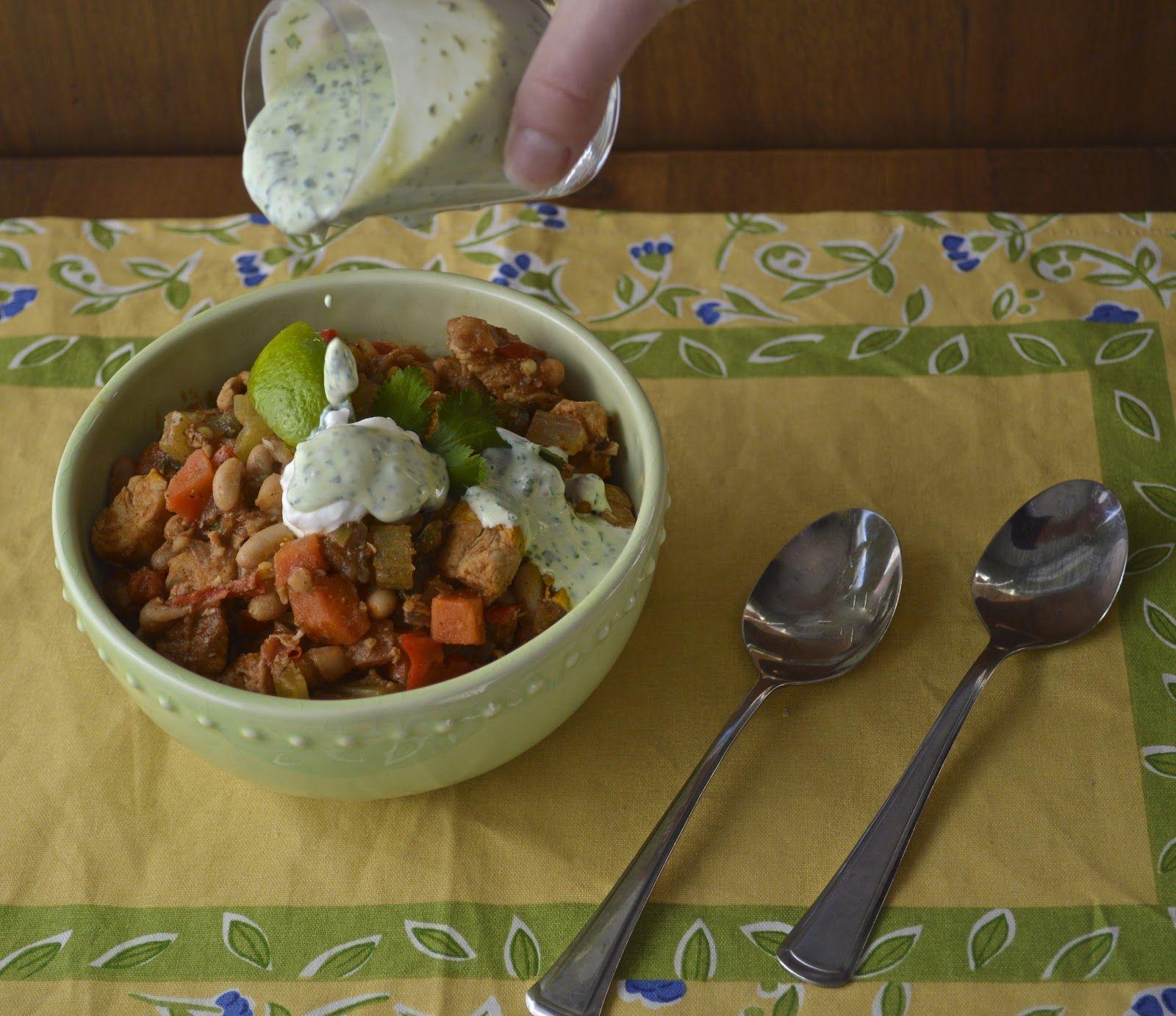 Chicken Chili with Cilantro Crema Seasoning recipes