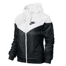 ASIAN SIZE Nike AS Windrunner White Black Windbreaker Womens ...