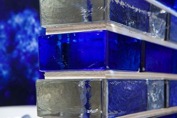 Glass bricks from Seves were a hidden gem from KBIS.  Awesome.