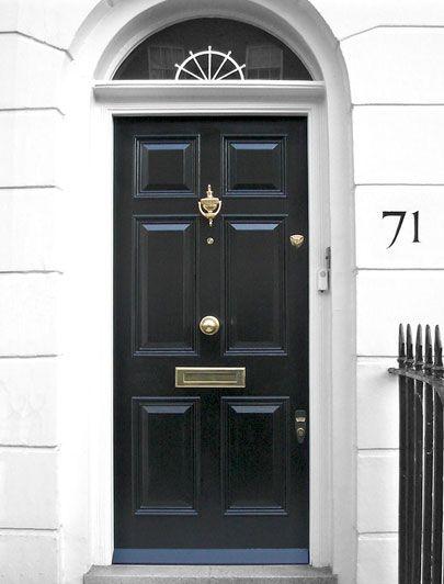 London Doors Front Door Regency Door Victorian Front Doors Black Front Doors Entrance Door Design