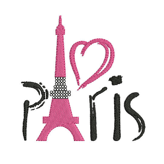 Instant Download Embroidery Design Eiffel Tower Paris Embroidery