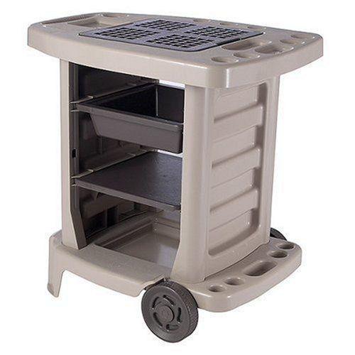 Portable Potting Table Tool Storage Utility Bin Outdoor Gardening Center Bench Suncast