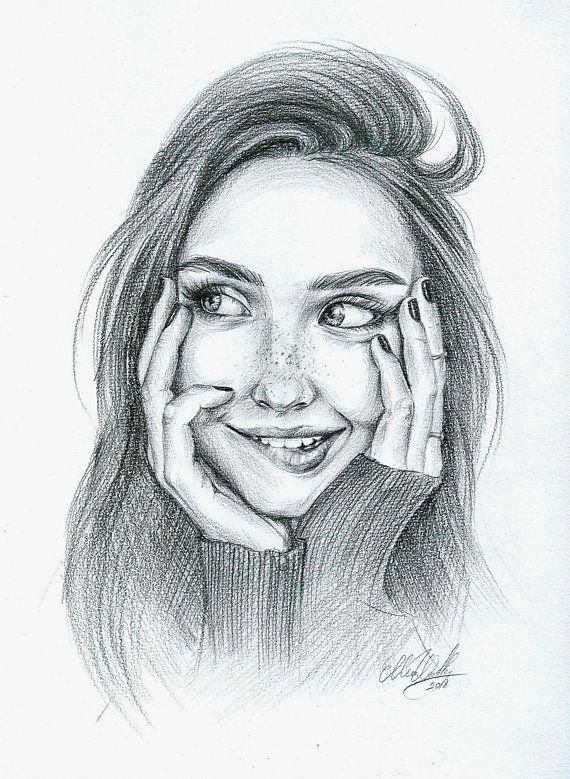 Радость картинка карандаш