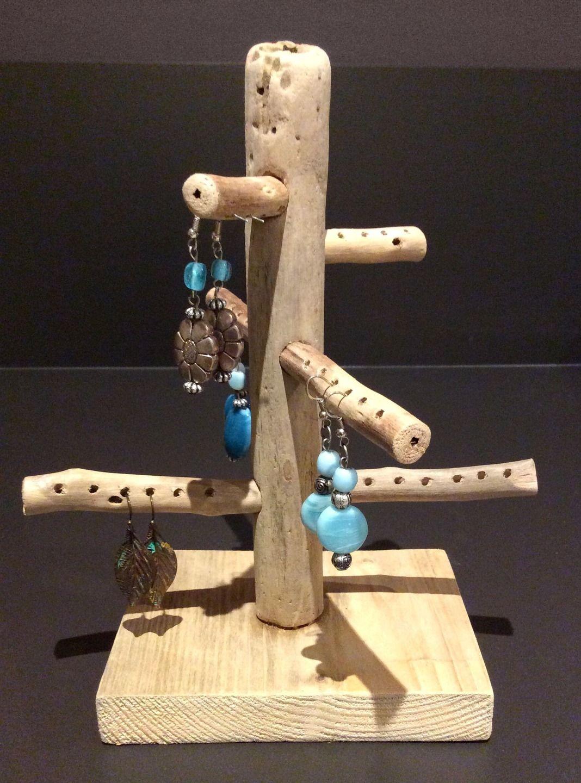 arbre bijoux en bois flott par l 39 atelier de corinne. Black Bedroom Furniture Sets. Home Design Ideas
