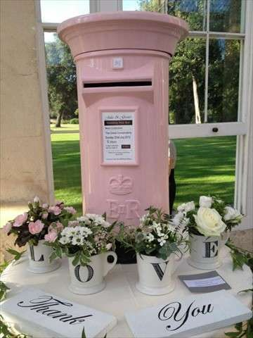 Chic Boutique Wedding Guest Thank You Card Post Box White//Silver