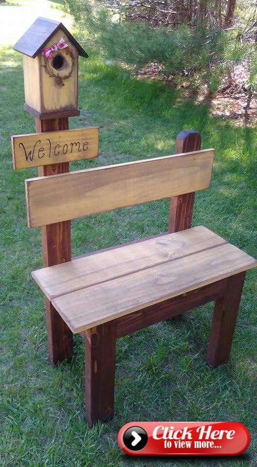 Photo of What a beautiful little bench for any size garden. #LittleWoodProjects