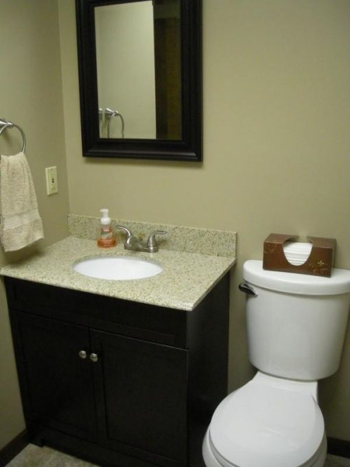 Small Bathroom And Budget Small Bathroom That Used To Have Carpet Old Vanity With