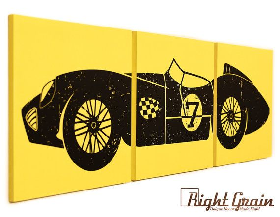 Our Classic Car Wall Art is Customizable and Perfect for Race Car ...