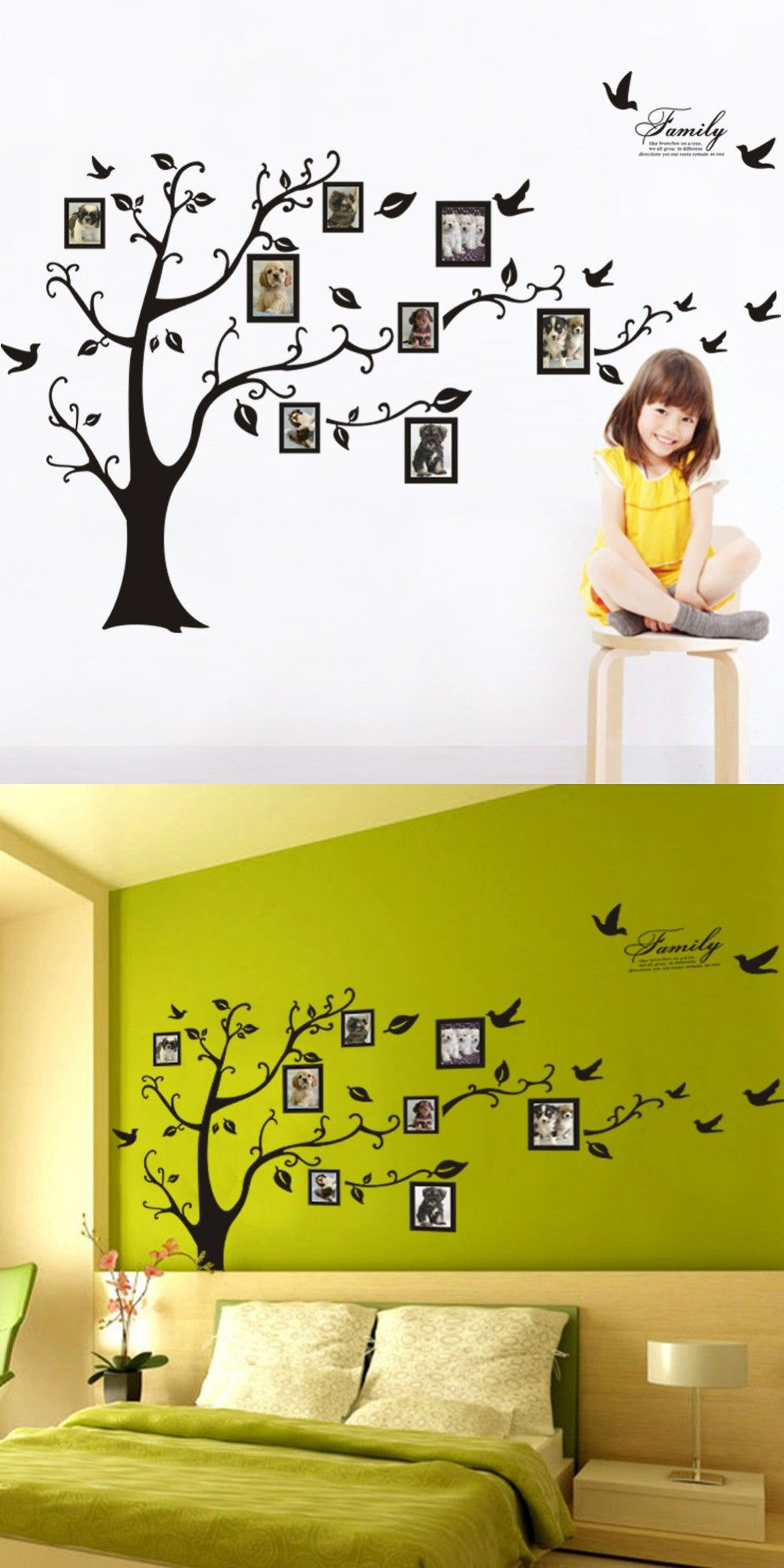 DIY New Year Gifts Home decoration stickers Present 115 * 142 cm ...