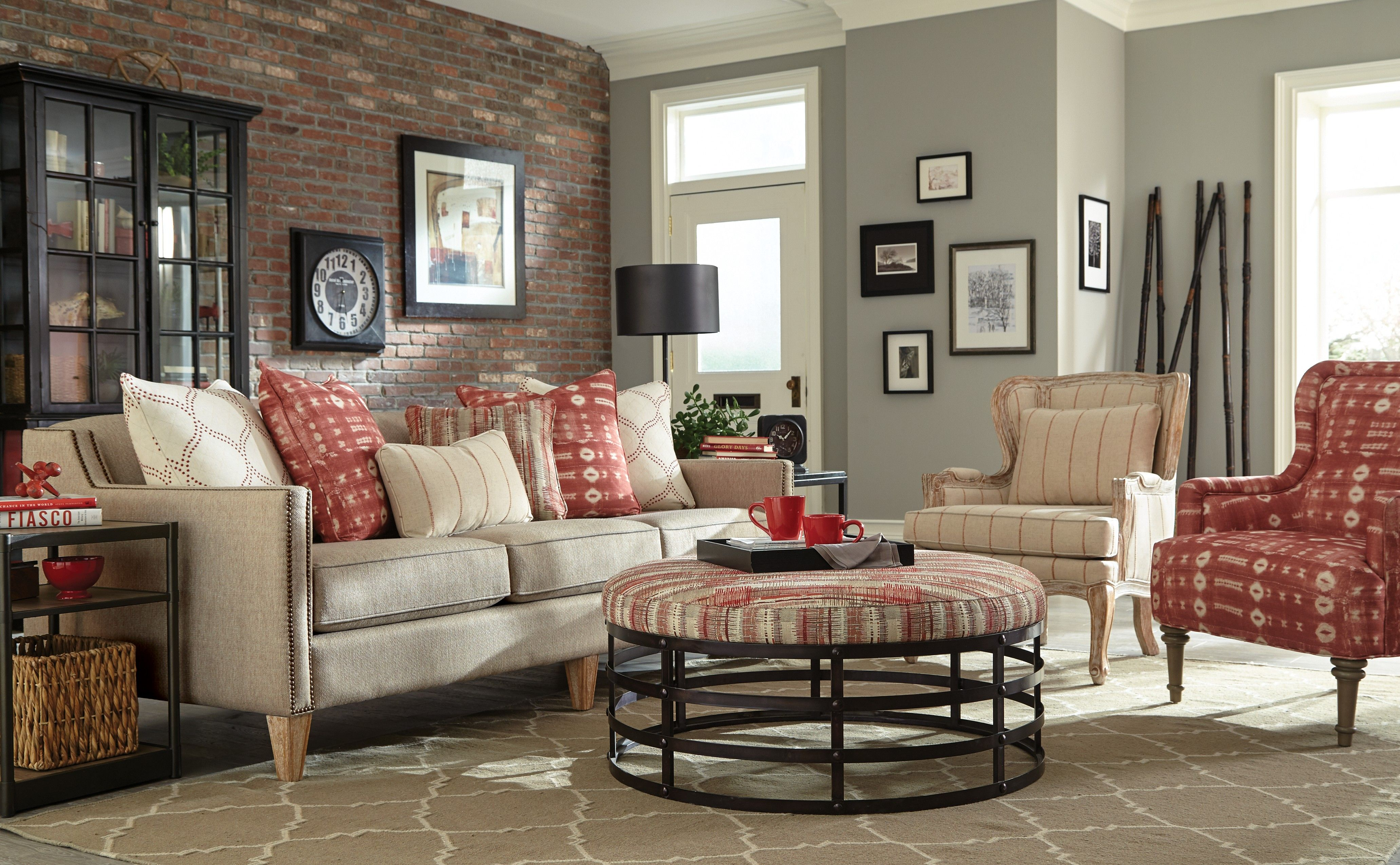 785250 craftmaster sofa 083700 ottoman furniture mid