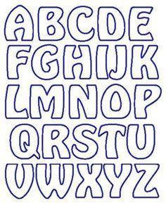 Resultado de imagen para moldes de letras para carteleras ...