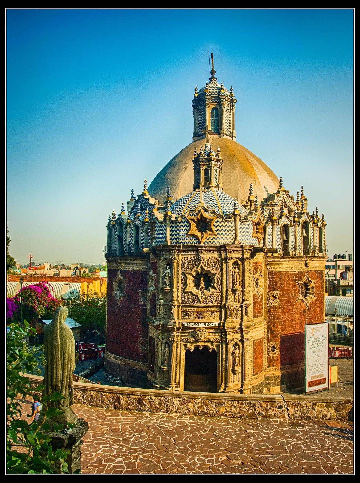 Templo del Pocito by Guillermo Ruiz on 500px  Templo ubicado en las cercanías de la falda oriente del cerro del Tepeyac. Fue edificado sobre un pozo de aguas consideradas milagrosas, así, pronto comenzaron las peregrinaciones al lugar.