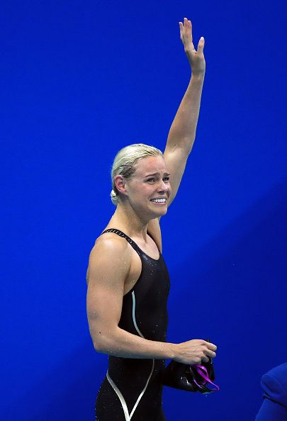 Pernille Blume of Denmark wins Gold in the Women's 50m Freestyle Final on Day 8…