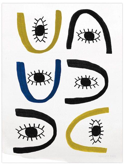 All Eyes Poster (30x40cm) by Seventy Tree