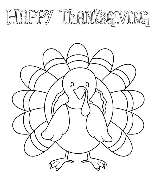 Big Thanksgiving Coloring Pages Pictures