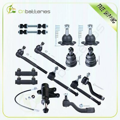 9 pieces 2WD Suspension and Steering Kit Idler Arm Ball Joints Tie Rod Ends