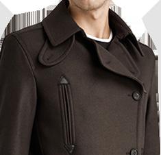 Carlton Pea coat #AllSaints #MensWear #PeaCoat