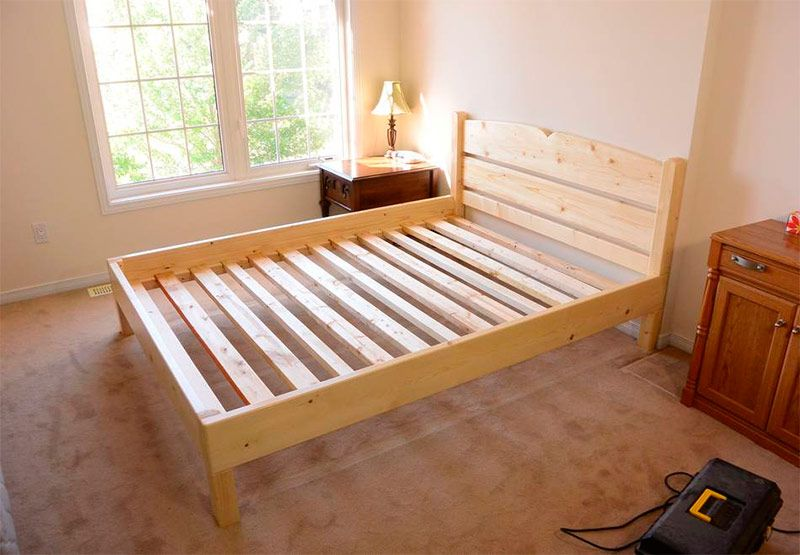Как самостоятельно сделать двуспальную кровать Дизайн