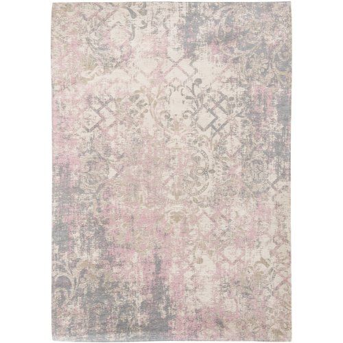 Louis De Poortere Fading World Babylon Cotton Pink Ivory Rug Products In 2019 Rugs White Rug Pink Rug