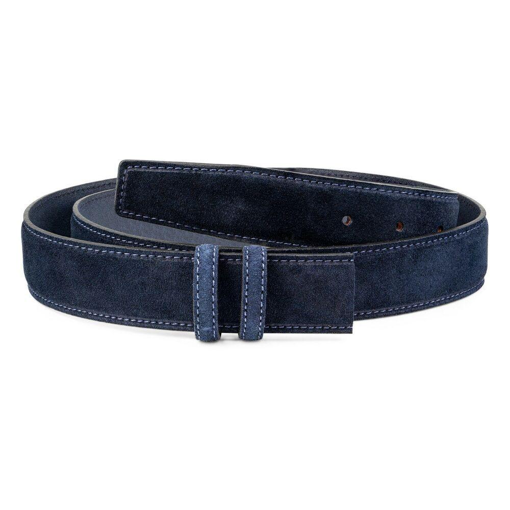 Brown Automatic buckle belt Genuine leather Ratchet Men/'s Adjustable Capo Pelle