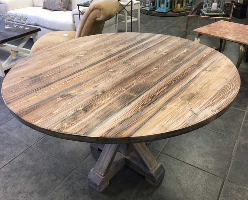 Alice round farmhouse dining table 1000 in 2020