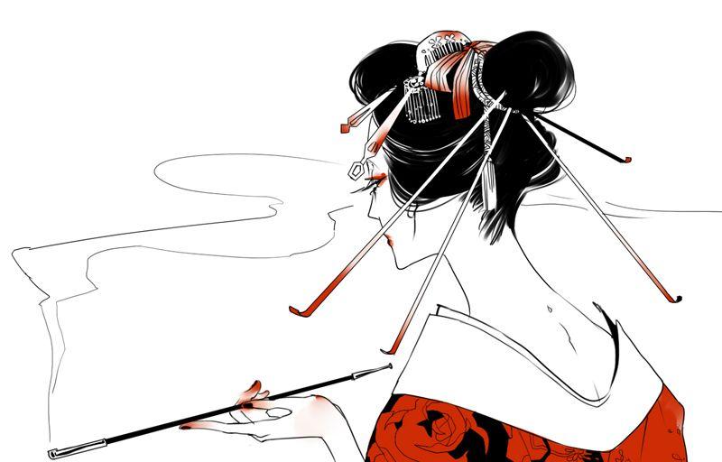 geisha by ASingleGiraffe on DeviantArt