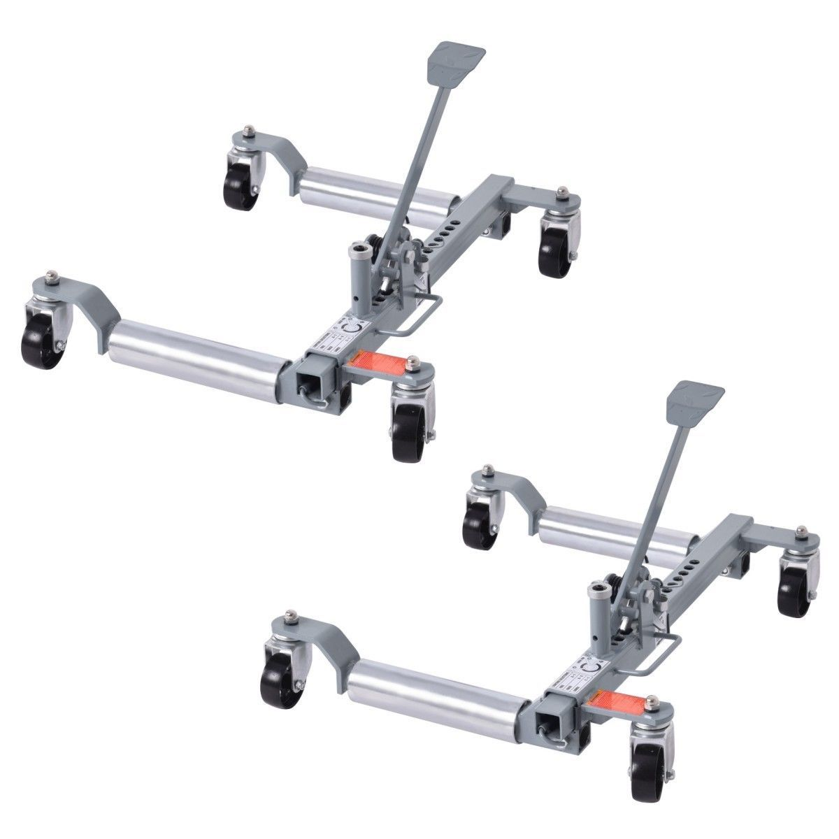 Set Of 2 Lb Capacity Vehicle Positioning Car 10 Wheel Dolly Moving Tire In