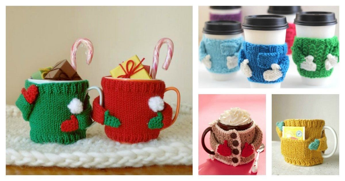 Tutorial >> DIY Mug Cozy Sweater (1) (2) (3) | DIY & Crafts 1 ...