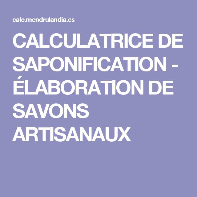 DE TÉLÉCHARGER SAPONIFICATION CALCULATEUR