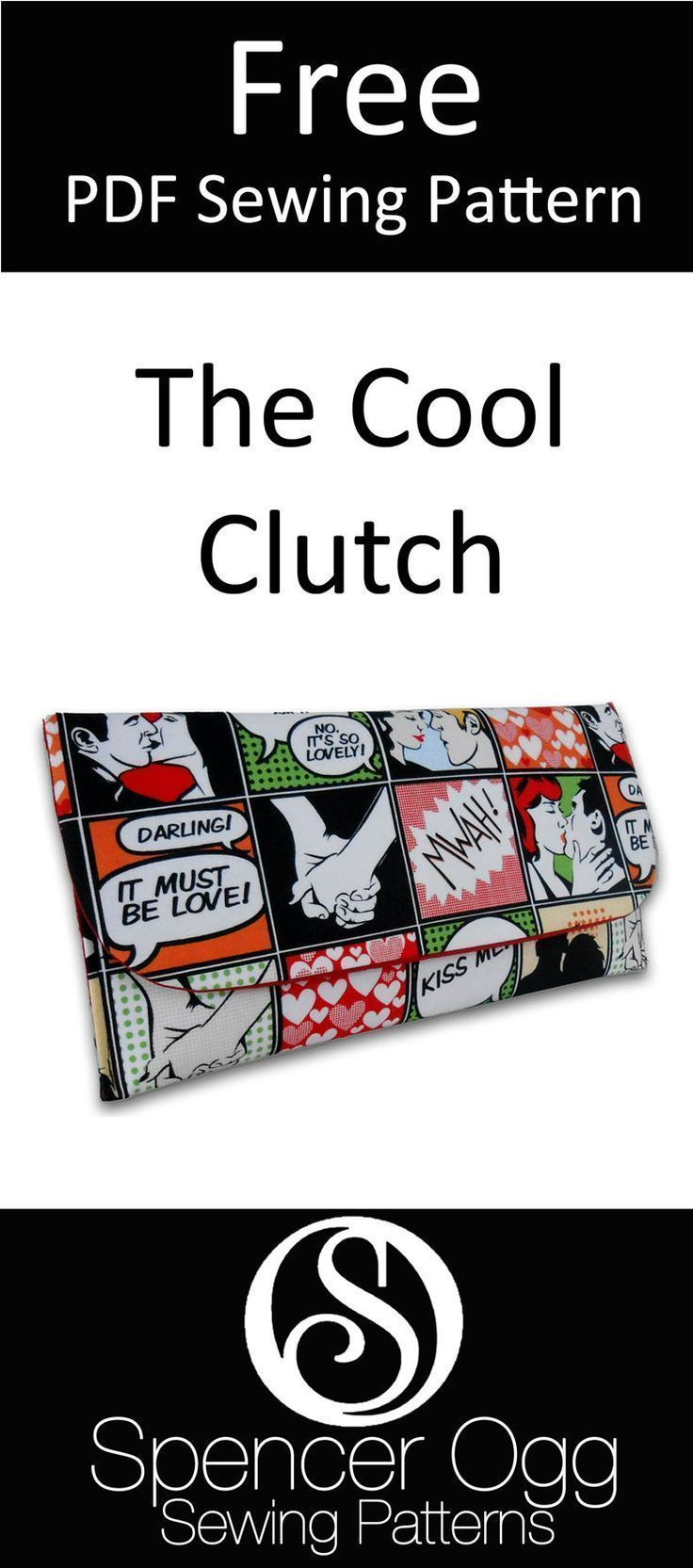 FREE SEWING PATTERN. The Cool Clutch | Sewing | Pinterest | Costura ...