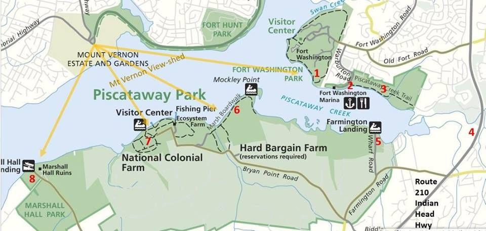 Fort Washington Map.Fort Washington Maryland Piscataway Park With Potomac To The Left