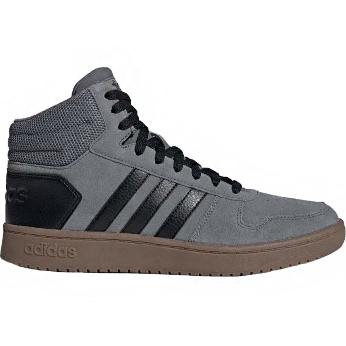 Buty Adidas Hoops 2 0 Mid M Ee7367 Szare Adidas Running Shoes Women Mens Athletic Shoes Sneakers High Top Basketball Shoes