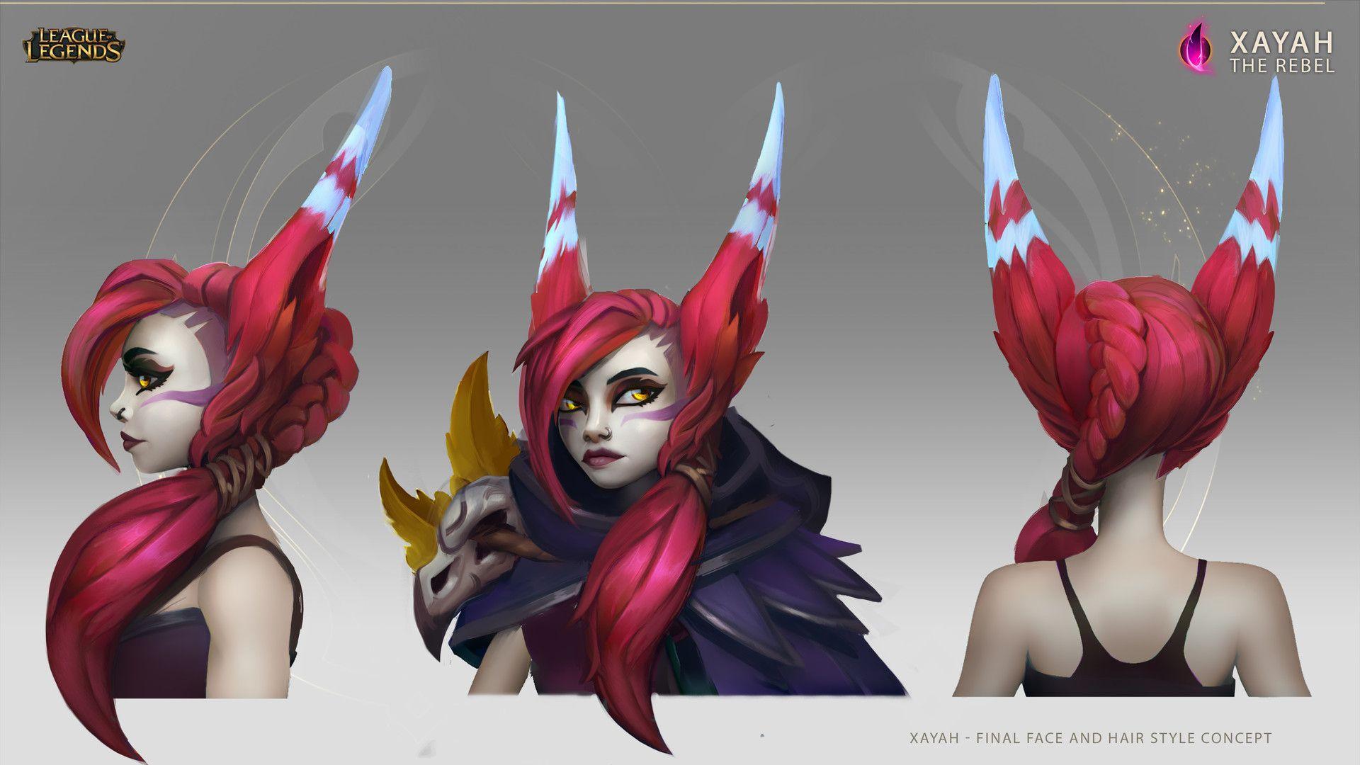 Xayah Character Design : Artstation xayah the rebel concept art daniel orive