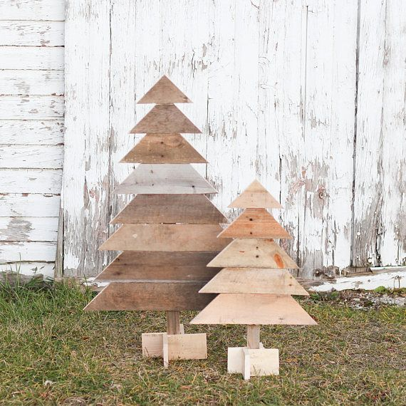 rustic wooden christmas trees you get a one of a kind handmade rustic pine tree in the size you choose 24 in or 18 in each piece is made from - Rustic Wood Christmas Tree
