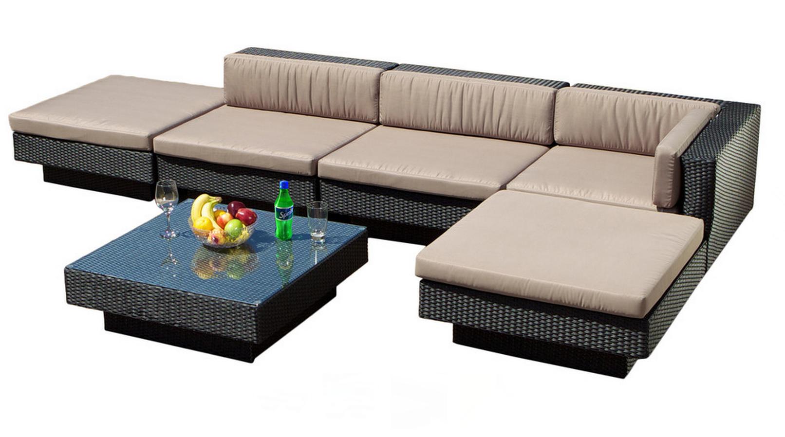 3rd floor balcony - Santa Maria Outdoor Sectional Sofa Set - Great Deal Furniture