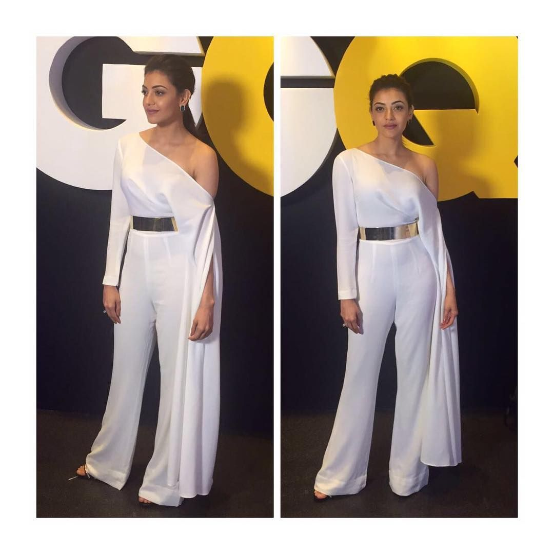 "Kajal Aggarwal on Instagram: ""#aboutlastnight wearing @isabelsanchissl styled by @theanisha"""