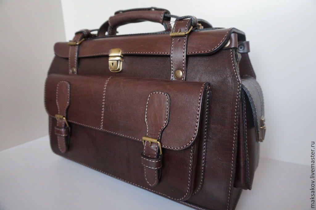 53c6389f Мужские сумки ручной работы. Сумка-саквояж мужская кожаная