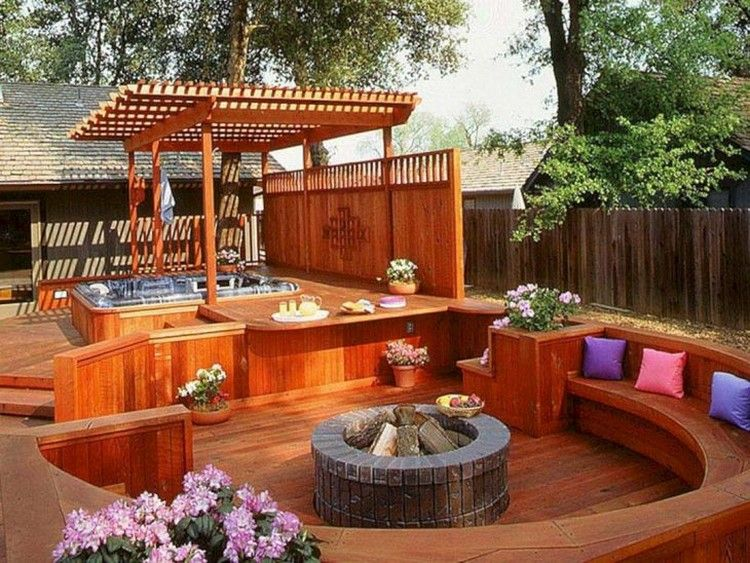 27+ Cool Backyard Wooden Deck Design Ideas That You Must See It