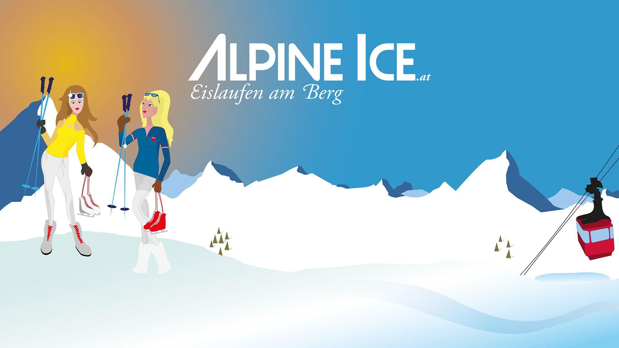 Alpine Ice Eislaufen am Berg ist die Tourismusinnovation für Bergbahnen und Wintersport: Wir planen Eislauferlebnisse auf Augenhöhe mit Gipfeln & Skifahrern