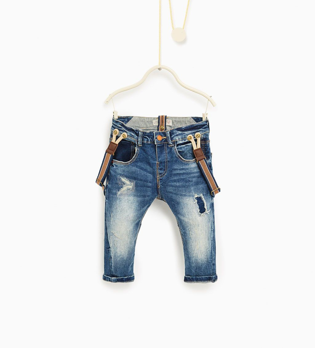 88d94a50 Jeans with braces-JEANS-Baby boy-Baby | 3 months - 3 years-KIDS | ZARA  United States