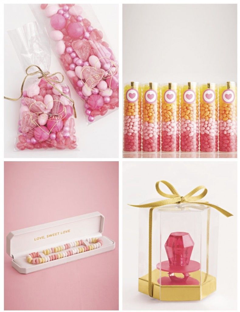 These party favors are all beautiful, but I especially love the pink ...