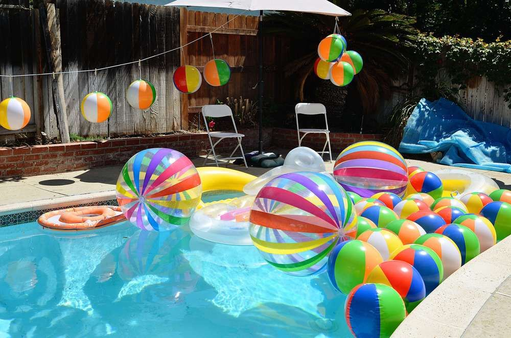 Beach Ball Birthday Party Ideas With Images Pool Birthday