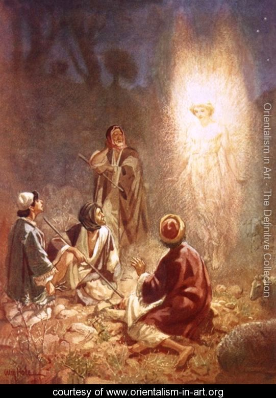angel appears to the shepherds to announce the birth of the Christ – Angels Announce the Birth of Jesus