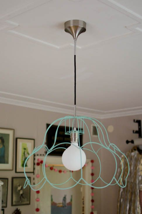 Karins konstgrepp: DIY Lamp! (in Swedish with pics)
