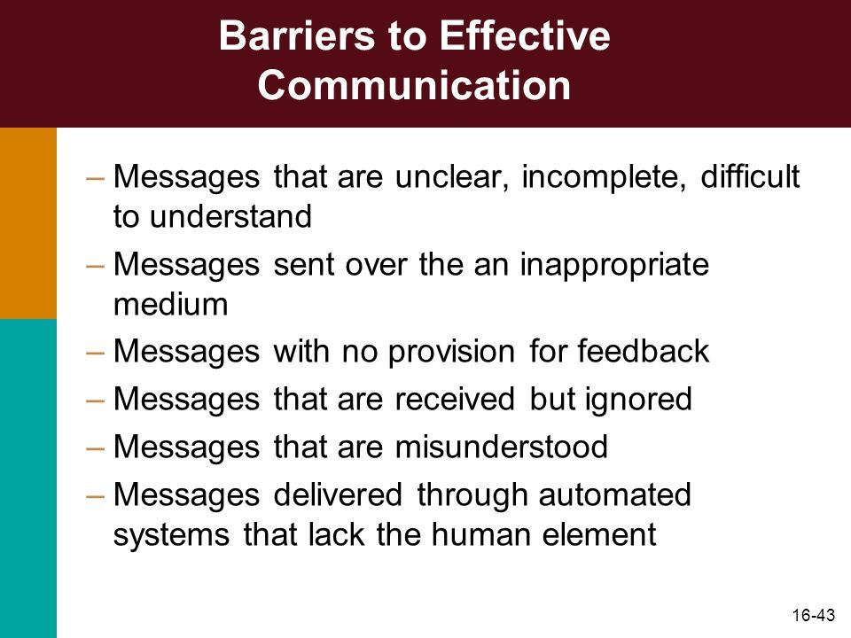 introduction barriers communication The barriers to effective communication by rupal jain de mcfarland has defined communication as the process of meaningful interaction among human beings more specifically, it is the process by which meanings are perceived and understandings are reached among human being but there may be some faults /barriers in the.