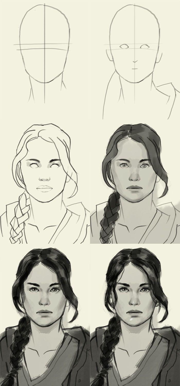 how to draw Katniss Everdeen … Pinteres…