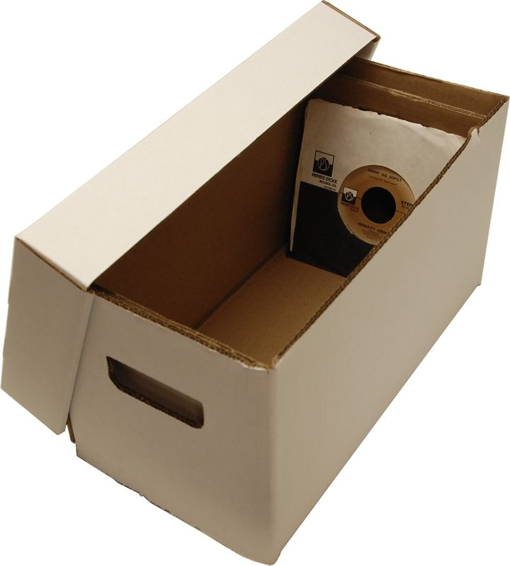 Cardboard Record Storage Box Holds 150 7 Records Bcw Record Storage Box Record Storage 45 Record Storage