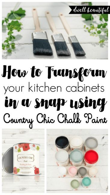 how to paint your kitchen cabinets with chalk paint chalk paint rh in pinterest com Recipe for Chalk Paint Kitchen Cabinets Recipe for Chalk Paint Kitchen Cabinets