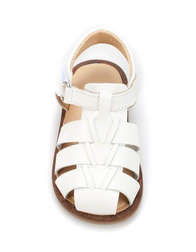 Zara baby classic leather sandal